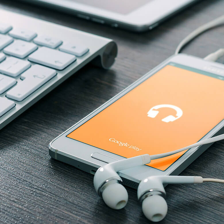 Smartphone Kopfhörer Samsung weiß